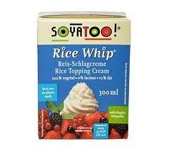 Rijst slagroom